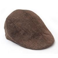 головные уборы для мужчин оптовых- Hot 2018 Winter Beret Hat For Men Baker Boys Peaked NewsBoy Berets Hip Hop Country Hat Causal Beret Flat Cap Linen