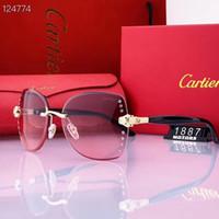 caixas de presente para copos venda por atacado-2019 de alta qualidade com caixa de Designerluxo s senhoras óculos de sol para homens e mulheres Condução vidros de sol A5Cartiers presente