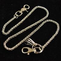 ingrosso catene portafogli punk-Catene chiave del punk dei bottoni della clip dei bottoni di Hip Hop della catena dell'anello del metallo dei portachiavi della catena del portafoglio