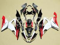 kit de carenado yzf r1 fiat al por mayor-Nuevo kit de carenados ABS apto para kawasaki Ninja ZX6R 636599 2013 2014 2015 2016 2017 6R 13 14 15 16 17 ZX-6R Bonito blanco rojo