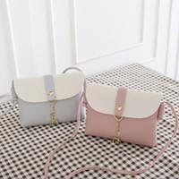 Wholesale backpack stitching for sale - New Design Creative Elk Keychain Stitching Women Girls Shoulder Bags Children Girl Coin PU Crossbody Mini Phone Bag