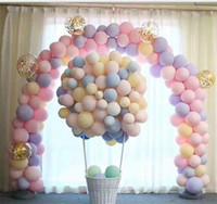 globo redondo de aluminio al por mayor-Decoración de la boda redonda globo de látex Globo de aluminio Número Globos Cumpleaños Decoración de la fiesta de compromiso Globo Kids Ball Supplies