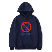 свободная большая толстовка оптовых-Men Hoodie Russian Letter No without Women Print hoodies Sweatshirt Winter Leisure personality Hipster hoodie Loose Big Size