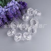 freie nagelkunstproben groihandel-5g Leeres Lidschattenglas Klar Sahneglas Diamantform Zubehör Nail Art Dosen Mini-Probenglas Freies Verschiffen
