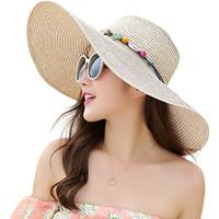 Wholesale floppy hats online - HOT Women Floppy Sun Hat Summer Wide Brim  Beach Cap Foldable 4fd0092d564
