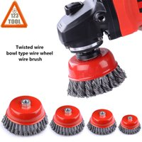 5PCS 25mm Wire Steel Wheel Flat Brushes Cup Rust Rotary Tools For Grinder Drill