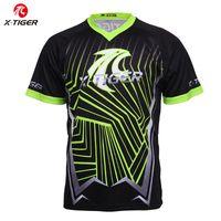 mtb bicicleta dh jerseys al por mayor-X-Tiger 100% camisa de poliéster de descenso de MTB jerseys moto de motocross Carreras Deportes desgaste de ciclo jerseys de manga corta camiseta de la bici DH