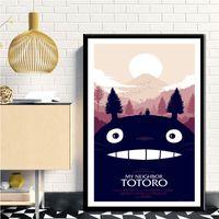 Wholesale 16x20 canvas frame for sale - Group buy Japan Anime Tonari No Totoro My Neighbor Totoro Miyazaki Hayao Series Art Poster Wall for Home Decor Canvas Print No Frame