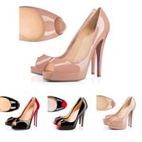 piel genuina al por mayor-Zapatos de diseñador 2019 zapatillas de deporte So Kate Styles Tacones altos Parte de abajo Tacones rojos 12 CM Bombas de punta de cuero genuino Punta de goma 35-42
