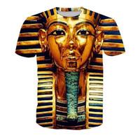 ingrosso tee grafiche unisex-T-shirt da uomo Sfinge 3D digitale completo stampato uomo Graphic Tee Shirt Casual Tops unisex a maniche corte T-shirt camicetta (RT-1356)