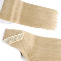 blonde braune lange haare großhandel-ZXTRESS 24 Zoll 5 Clips Kunsthaar lange gerade blonde Clip in Haarverlängerungen Braun Schwarz Haarteile für Frauen