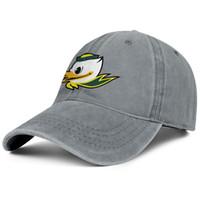 ingrosso giovane anatra-Oregon Ducks football logo young men Sport Denim cappello da baseball stampato donna regolabile berretto da pesca personalizzato snapback cap cappelli di maglia
