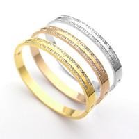 joyería de piedra coreana al por mayor-2019 joyería coreana de moda al por mayor flores de moda piedras mate oro rosa plata encanto pulseras de amor para mujeres pulseras de hebilla femenina