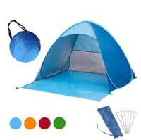 Wholesale portable pop up tents resale online - Outdoor Camping Tent Hiking Quick Automatic Opening Tents Picnic Climbing Tent Automatic Portable Pop Up Beach Outdoor Summer Tent D86