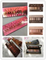 Wholesale naked palette makeup 12 online - Naked makeup eyeshadow palettes eye shadow pallet color NUDE HEAT CHERRY decay Makeup Naked Palettes