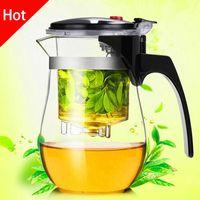 glashitzebeständige teekannensätze großhandel-Förderung Hohe qualität Hitzebeständige Glas Teekanne Chinesischen kung fu Tee-Set Puer Wasserkocher Kaffee Glas Maker Bequem Büro Teekanne