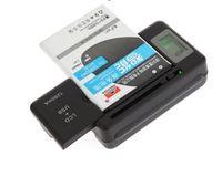 galaxy s3 s4 s5 venda por atacado-Carregador de bateria universal inteligente Indicador LCD principal para Samsung Galaxy S4 i9500 S3 I9300 NOTA 3 S5 i9600 com usb carga de saída móvel