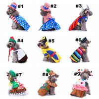 ingrosso abiti per cuccioli-18 Disegni Cane da compagnia Costumi da Babbo Natale Abbigliamento per vestiario di Natale Cappotti Divertente Festa Decorazione per le feste Vestiti per animali Felpe con cappuccio Cuccioli Gatti