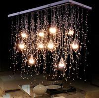Crystal Ceiling Lights Indoor Lighting LED Modern G4 Led Meteor Rain lighting for Living Dining Room Lamps Home Decoration LLFA
