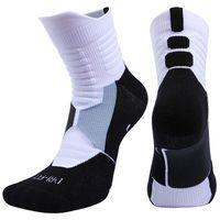 erkekler bisiklet çorapları toptan satış-Yüksek Kalite Yeni Erkekler Açık Spor Elite Basketbol Çorap Erkekler Bisiklet Çorap Sıkıştırma Çorap Pamuk Havlu Alt erkek çorap