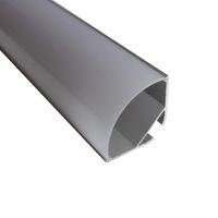 cubierta de perfil de tira de led al por mayor-Canal de perfiles de aluminio LED suspendido en forma de V de 30 * 30 mm más ancho para tira de LED de doble fila, cubierta de leche para pcb de 20 mm con accesorios