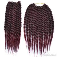 ombre kanekalon jumbo örgü toptan satış-Ombre Xtrend 12inch Senegalli Büküm Saç Kanekalon Jumbo Örgü Saç Tığ Örgü Sentetik Saç Uzantıları 3 / adet