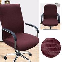 tecido cadeira spandex cobre venda por atacado-Simples Spandex Computer Chair cobrir 100% poliéster tecido elástico Office Chair Easy Cover lavável removível 2019