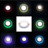 ultra ince gömme ışık dim edilebilir toptan satış-Yüksek Kaliteli Ultra Ince Beyaz RGB Yuvarlak Panel Işık Kısılabilir Bahçe Için LED Tavan Gömme Izgara Gömme