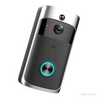 Wholesale new two way phones resale online - NEW HD P WiFi Video Doorbell Camera IR Night Vision Two Way Audio Battery Operation Door Phone Intercom