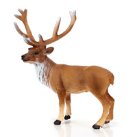zoo spielzeug großhandel-Klassisches Spielzeug Simulation Wilde Tiere Elch Modell Zoo Modellierung Solide Elch Wapiti Deer Kinder Lernspielzeug