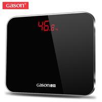 напольные дисплеи оптовых-GASON A3 Весы Для ванной комнаты точный смарт-электронный цифровой вес дома этаж здоровье баланс тела стекло светодиодный дисплей 180kg D19011702