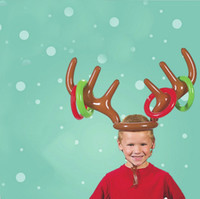 Wholesale gifts balloons for christmas for sale - Group buy Inflatable Christmas Decoration Christmas Inflatable Ornament Gift For Child Elk s Antler lead Balloon Christmas Party Hat Accessories