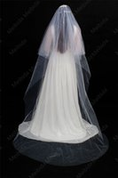 Wholesale floor length veils resale online - new Cathedral veil Bridal veil White Ivory Newly veiled edging wedding accessory second floor wedding accessory