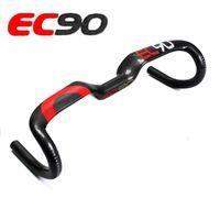 2017 new ec90 carbon fiber highway bicycle thighed handle carbon handlebar road bike handlebar 31.8 * 400 420 440MM