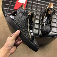 Wholesale 2019 Designer Mens Luxury Shoes Trainers Sneakers Giuseppe Zanotti GZ Men s casual shoes