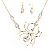 Wholesale china factory resale online - Crystal Animal Pendant Necklace Earrings Set Christmas Holiday Halloween Wedding Necklaces for Woman Hot Sale China Factory Directly Sell