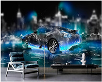 Wholesale underwater wallpaper for bedroom for sale - Group buy WDBH d wallpaper custom photo murals Fantasy underwater sports car background home decor living room d wall murals wallpaper for walls d