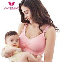Wholesale nursing breastfeeding clothing resale online - YATEMAO Breastfeeding Maternity Clothes Nursing Bra Sleep Bras for Nursing Pregnant Women Soutien Gorge Allaitement UnderwearMX190910