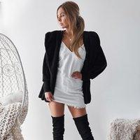 flauschiger pullover pullover groihandel-2018 Herbst Winter Warme Frauen Pullover Langarm Mit Kapuze Flauschige Dicke Mode Mantel Jacken Strickjacken Weibliche Casual Outwears