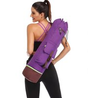 colchoneta de yoga al por mayor-75 * 18 CM Bolsa de Yoga Doble Cremallera Impermeable Multifunción Bolsillo Pilates Estera de Yoga Bolsa de Estera de Baile Deportes Mochila Mochila de Fitness Estera Estera # 31