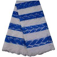 ingrosso bellissimi abiti ricamati-Tessuto africano superiore del pizzo del cavo del ricamo di qualità che stampa il bello tessuto ricamato del pizzo di Guipure per il vestito da partito