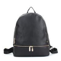 kadınlar için tasarlanmış sırt çantası toptan satış-Siyah marka tasarım kadınlar için küçük sırt çantaları okul çantaları lady kızlar tasarımcı pu