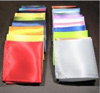 männer lila schal großhandel-Herrenanzug, Taschentuch, kleines Handtuch, Hochzeitskleid, Brusttuch, reines Taschentuch, Schwarz, Rot, Blau, Grün, Gelb und Lila
