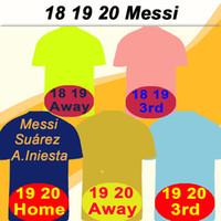 xxl 18 großhandel-19 20 Barcelona MESSI GRIEZMANN Heim Auswärts 3. Herren-Fußballtrikots 18 SUAREZ PIQUE COUTINHO DEMBELE Fußballtrikots RAKITIC F. DE JONG Kurze Uniformen