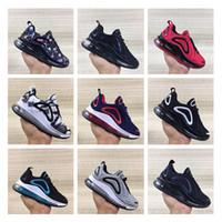 tamaño de zapatillas de niños pequeños al por mayor-Los niños calzan zapatos de los niños 720 deportes atléticos de las zapatillas de deporte del niño que activar de la muchacha de múltiples colores Tamaño 28-35