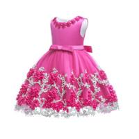 mini saias ano velho meninas venda por atacado-Vestidos para crianças 2018 Novo 3-10 Anos de idade Lace colorido menina princesa saia Peng saia