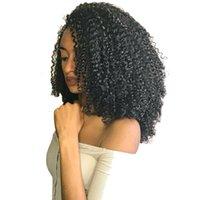полное наращивание волос на голове оптовых-3B 3C Кудрявый вьющийся зажим для наращивания человеческих волос DIVA Натуральный зажим для волос Ins 120 г Бразильские волосы Реми 7шт / комплект с полной головой