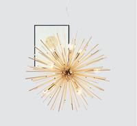 base da lâmpada pingente preto e27 venda por atacado-Pós-modernos de ouro pingente Luzes Sala Restaurante estudo liderado radiação esfera arte Personalidade luminária projeto