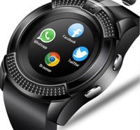 digitaluhren sim-karte großhandel-Männer frauen smart watch armbanduhr unterstützung mit kamera bluetooth sim tf karte smartwatch für android telefon paar uhr