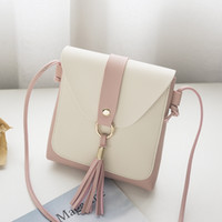 ingrosso borsa di colore bianco mini-borsetta e borse per donna borsa da spalla a tracolla nappa piccola borsa da massaggio borsa a tracolla da donna mini cute colore bianco coordinata # 160608
